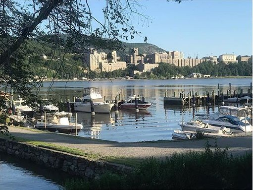 The view of West Point across the Hudson River from Garrison Landing.