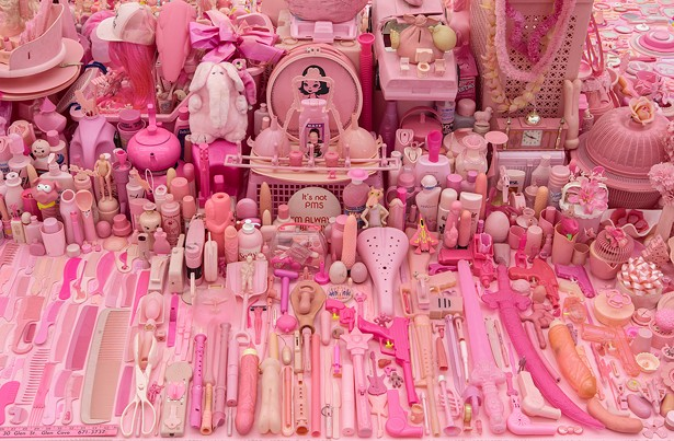 Portia Munson, Pink Project: Table, archival print, 15 x 23 in.