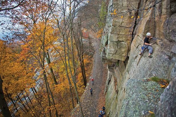 Rock climbing at the Mohonk Preserve. - QUYEN DAC NGUYEN