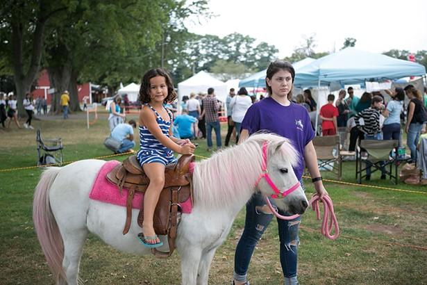 Pony rides at the Taste of New Paltz - CAYLENA CAHILL