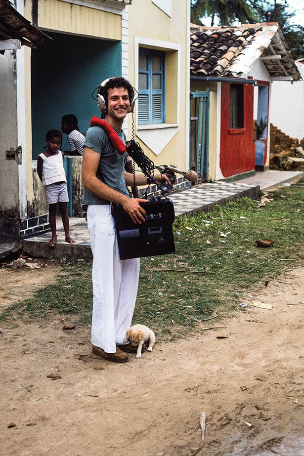 Jim Metzner field recording in Bahia, Brazil in 1975.