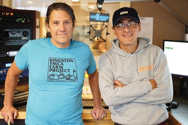"Jimmy Buff, executive director of Radio Kingston, and Manny, host of ""La Dosis Perfecta."" - JOHN GARAY"