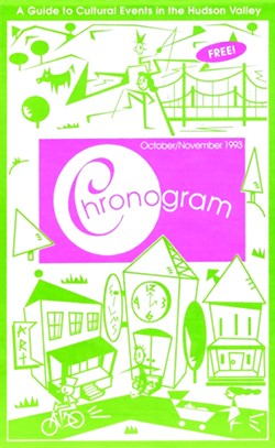 The first-ever issue of Chronogram: October/November 1993