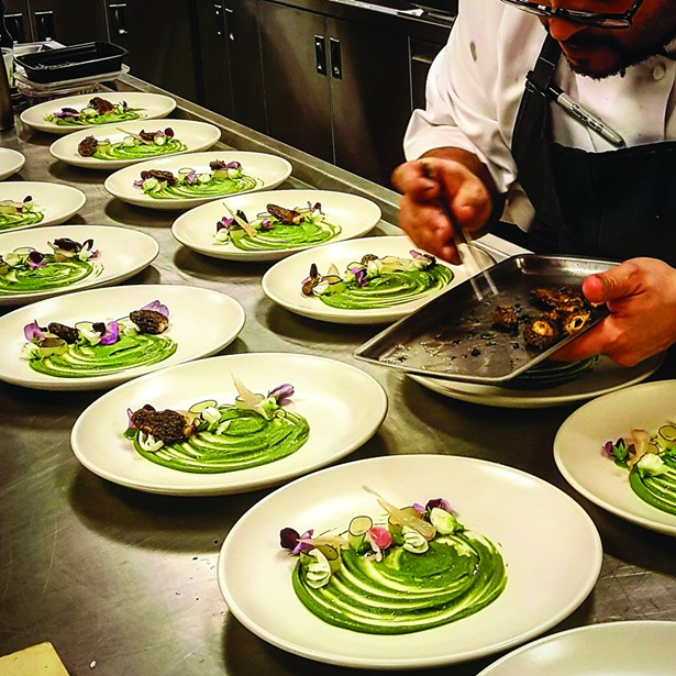 food_rei_peraza_plating_in_sonoma_a_course_of_rabbit_peas_morels.jpg