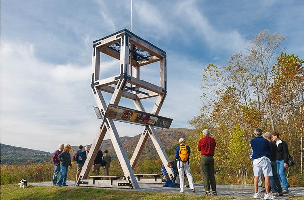 Replica of the historic gun platform at West Point Foundry Preserve. Photo: Robert Rodriguez, Jr.