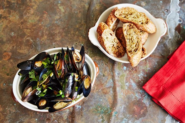 Along with tavern classics Calvert has a nice selection of seafood including mussels, oyster and shrimp which he get from the Boston or New York fish markets.