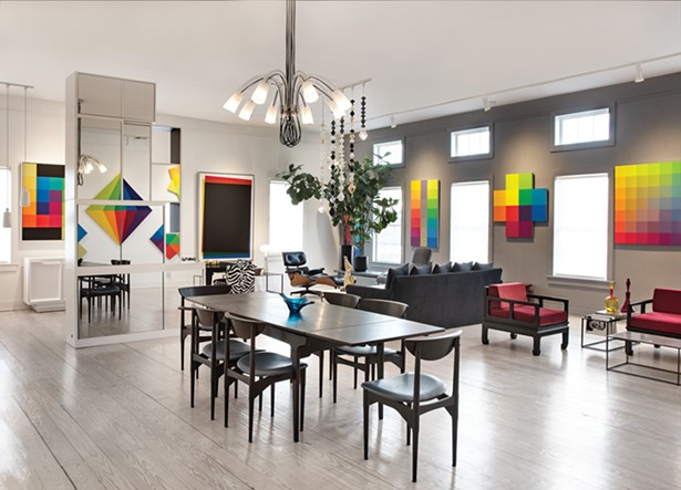 Gillette's street-facing gallery is regularly redecorated with an eclectic blend of living room sets, chairs, coffee and dining tables. - DEBORAH DEGRAFFENREID