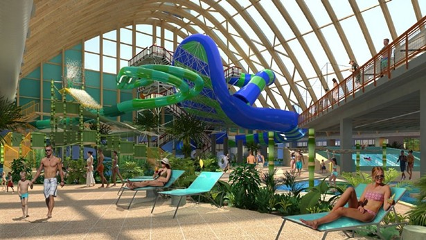 A rendering of The Kartrite water park.