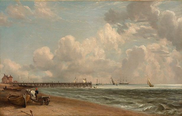 Yarmouth Jetty, John Constable,  c. 1822–23. oil on canvas, 12 3/4 x 20 1/8 in.