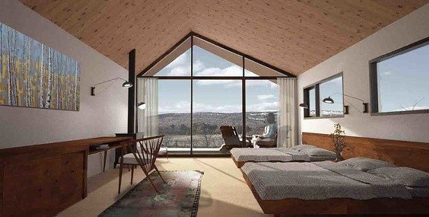 Rendering of a room in Heartwood Resort