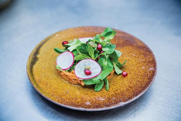 Muhammara and liptauer salad - PHOTOS BY MARY KELLY