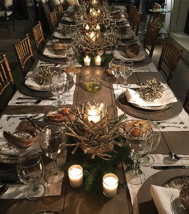 A holiday table setting at Hudson Home on Warren Street in Hudson