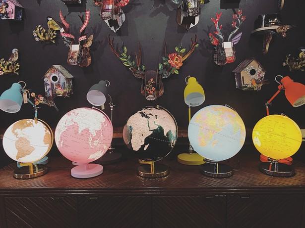Globe display at Exit 19.
