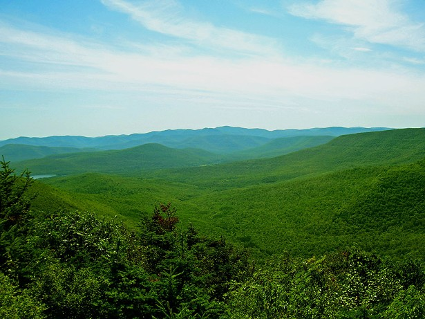 The familiar lush green of the Catskill Mountains reminded Irish immigrants of their homeland, inspiring them to build resort communities, which earned the name the Irish Alps. - DANIEL CASE, 2006