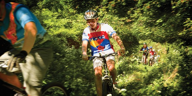 Mountain bikers at the Storm King School train on campus trails and in the many nearby forests. - PHOTO COURTESY OF THE STORM KING SCHOOL