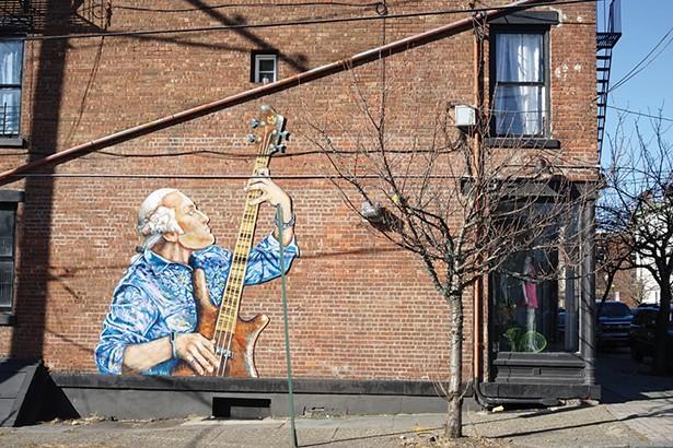 Street art by Will Teran on the corner of Washington and Liberty, across from Washington's Headquarters. - PHOTO: JOHN GARAY