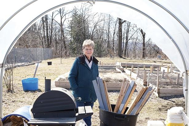 Virginia Kasinski, director of Newburgh Urban Farm and Food Initiative - PHOTO: JOHN GARAY