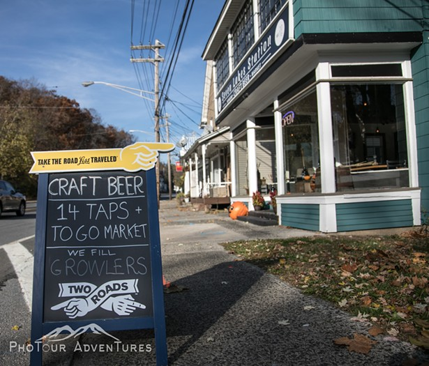 Seven Lakes Station Craft Beer & Taproom in Sloatsburg, NY, right on Route 17. - PHOTOUR ADVENTURES
