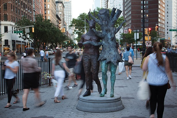 In Sync on 72nd Street. Cast silicon bronze, polychrome patina, cast concrete. - PHOTO: FIONN REILLY