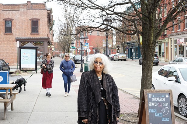 Sandra Rabin on Main Street in Beacon. - PHOTO: JOHN GARAY