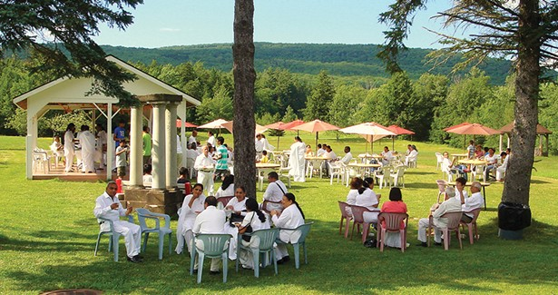 Outdoor dining at Peace Village Learning and Retreat Center.