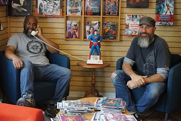 Jean Michel and Brian Tamm, co-owners of Megabrain Comics in Rhinebeck. - PHOTO: JOHN GARAY