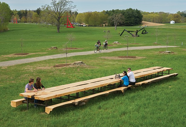 A view of Jean Shin's Outlooks installation at Storm King Art Center. - PHOTO: JERRY L. THOMPSON