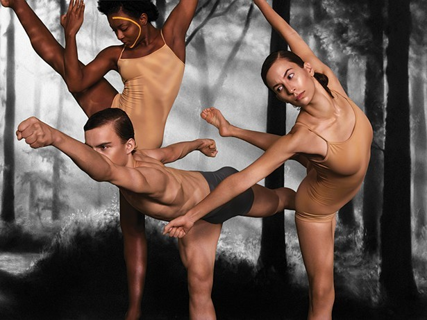 "Taylor Boyland, Mac Twining, and Tess Montoya in Stephen Petronio Company's ""American Landscapes"" - PHOTO BY SARAH SILVER"