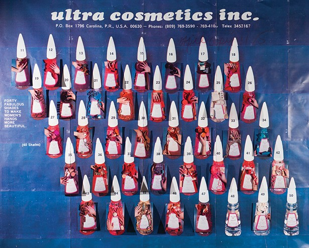 "Sara Cwynar's Ultra Cosmetics (Nail Polish Forty Fabulous Shades), from the exhibition ""Gilded Age"" at the Aldrich Contemporary Art Museum in Ridgefield, Connecticut, June 9 to November 10."