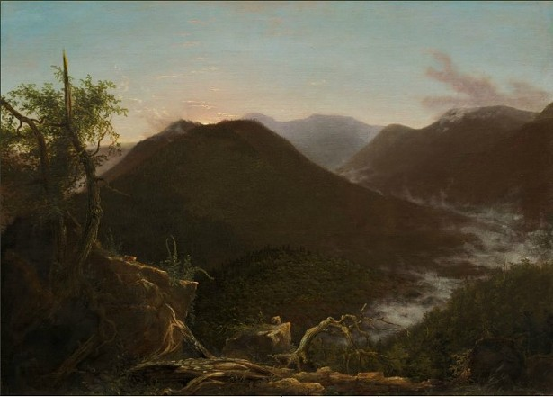 Thomas Cole, Sunrise in the Catskills, 1826. Oil on canvas. 25.5 x 35.5 in. National Gallery of Art.