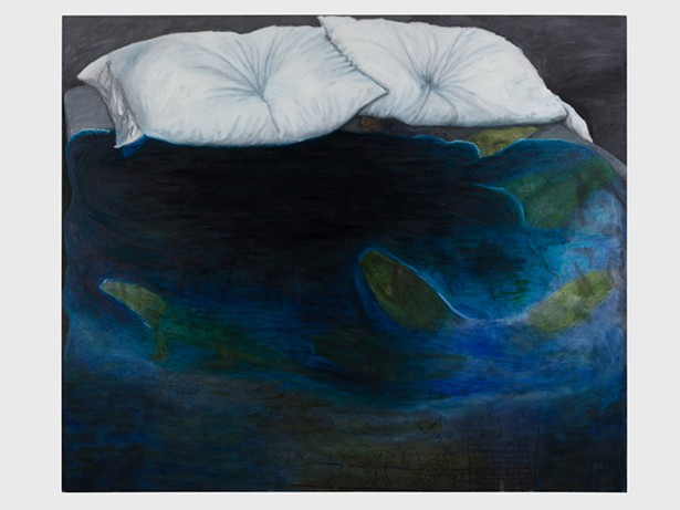 Leidy Churchman, Untitled (Billboard of an Empty Bed), 2018. Collection of Milovan Farronato. Courtesy the artist and Rodeo, London / Piraeus. - PHOTO: LEWIS RONALDS