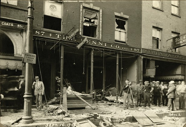 A photo of the aftermath of a gas explosion at 87 Water Street in Newburgh on September 16, 1929. - COURTESY OF NEWBURGH FREE LIBRARY