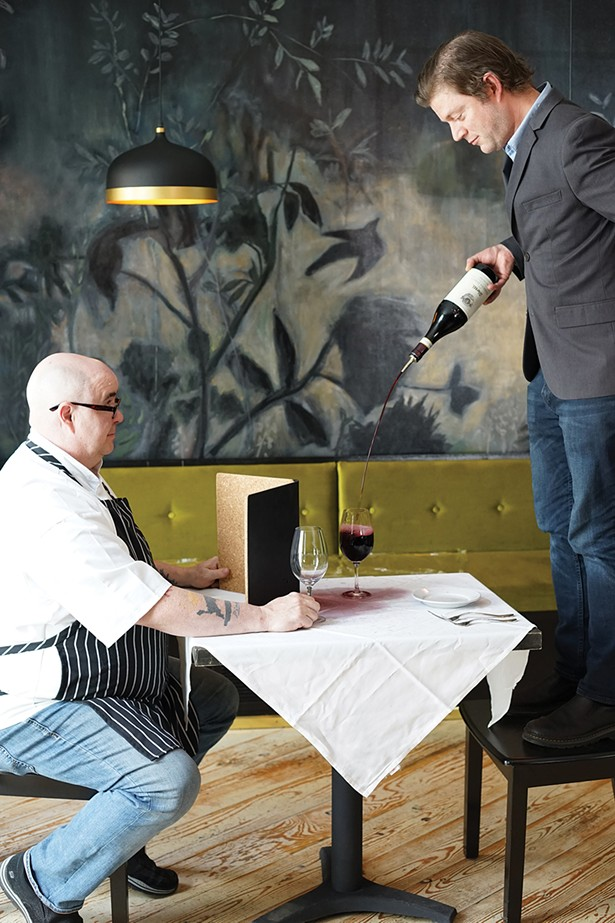 Chef Rich Reeve and owner/general manager Kyle Kelley at Bia in Rhinebeck. - PHOTO: JOHN GARAY