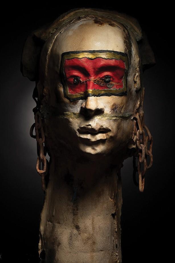 Lady Macbeth Sleepwalker, a ceramic and mixed midea sculpture by Judy Sigunick. - PHOTO: STEFAN FINDEL