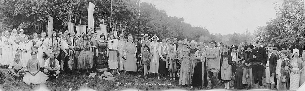 Costume revel and Maverick Festival, 1924. - COURTESY OF MAVERICK CONCERTS