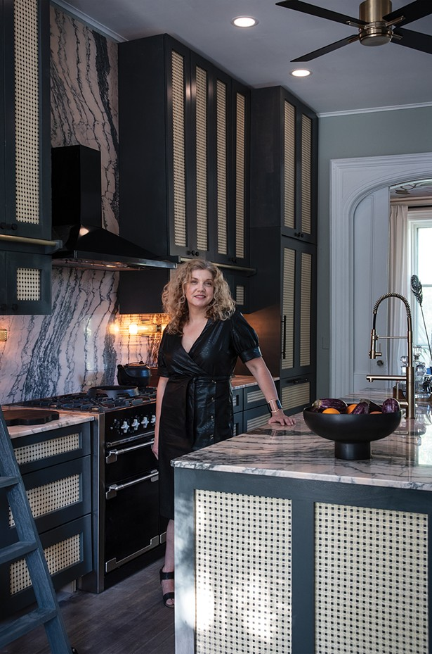 "Elizabeth Mercer, mercer INTERIOR. The mandate ""form follows function"" guides all of Mercer's design decisions. This was especially true of the showhouse kitchen, which has to meet the needs of a large family that cooks three meals a day. ""My designs are completely informed by how each space will be used,"" she says. ""This project is about utilizing all the space we can for storage and making it accessible."" She found Albany Marble for the countertops and backsplash, and employed Dave Jones Design to refresh the cabinetry. - PHOTO: DEBORAH DEGRAFFENREID"
