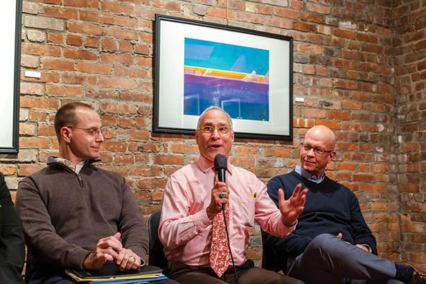 Pattern for Progress's Joe Czajka, Scenic Hudson's Jeff Anzevino, and RUPCO's Kevin O'Connor. - PHOTO: ANNA SIROTA