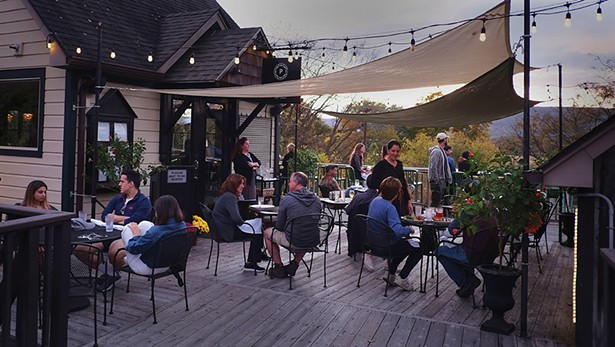 The patio at The Parish at Water Street Market. - PHOTO: ROY GUMPEL