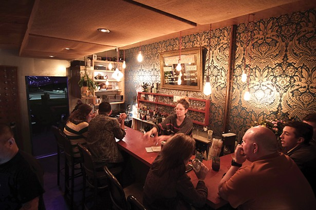 Jessie Stanko bartending at Jar'd. - PHOTO: ROY GUMPEL
