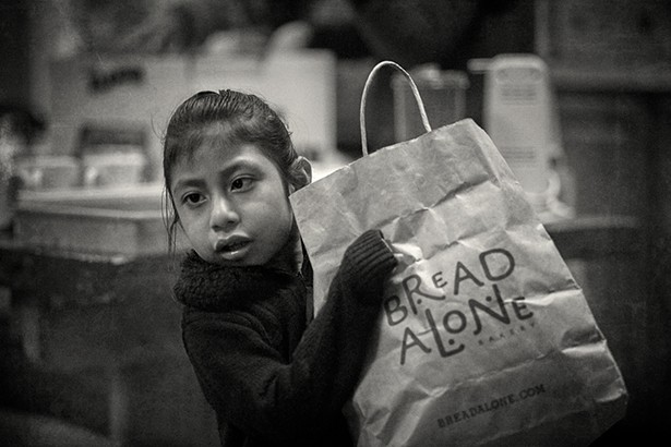 Every third Thursday Holy Cross/Santa Cruz Episcopal Church in Kingston hosts a food and clothing giveaway for asylum seekers and their families. - PHOTO: DAVID MCINTYRE