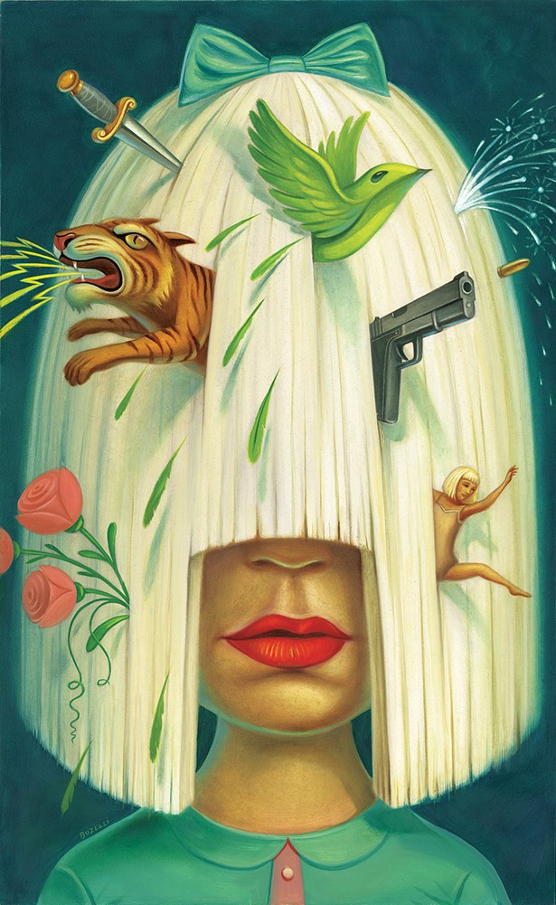 Sia, Oil on board, 2016, for Rolling Stone