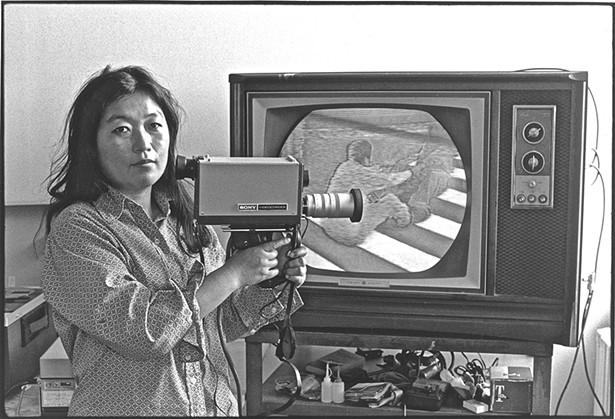 Shigeko Kubota in her studio in 1972. - PHOTO: TOM HAAR