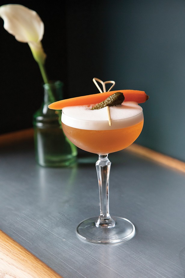 The adventurous cocktail program features drinks like Midnight Mary, a sideways glance at a Bloody Mary - PHOTO: ANN STRATTON