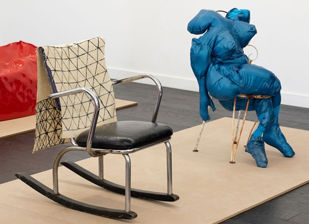 """""""Sit In"""" at September Gallery, featuring work by Nancy Shaver, Agathe Snow and Kate Gilmore. - PHOTO BY PETE MAUNEY"""
