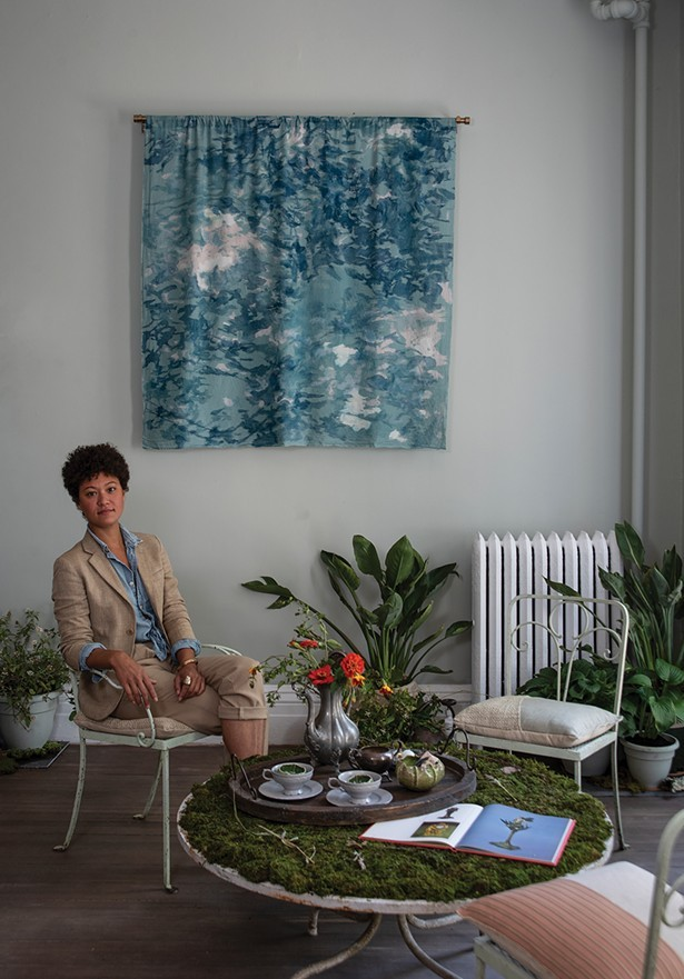 Jennifer Salvemini in the space she curated for the 2019 Kingston Design Showhouse. - PHOTO: DEBORAH DEGRAFFENREID