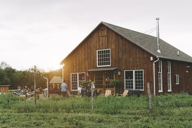The tasting room and brewing facility at Arrowood Farm Brewery in Accord, NY. - COURTESY OF ARROWOOD FARM BREWERY