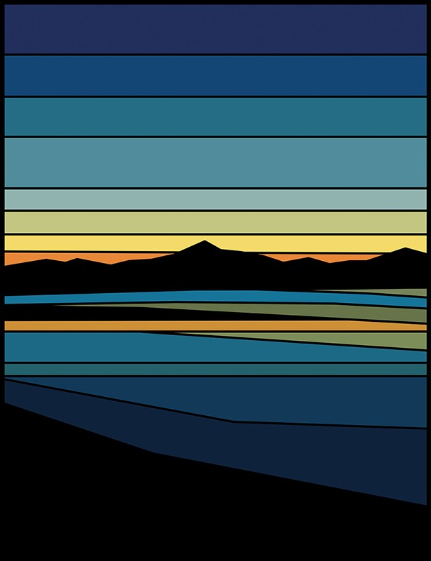 Reservoir Sunset, oil on panel, 2018 - TODD KOELMEL