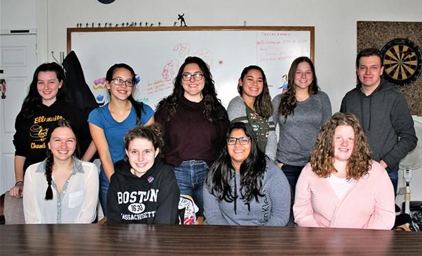 The Devil's Advocate staff (top left to right): Violet Shiffer, Cassie Reyes, Bella Ramirez, Vanelys Malave, Alida Goldsmith, Lukasz Kogut - Bottom row, l-r: Jasmine Shiffer, Meghan Stone-Wardinsky, Rageena Chander, and Alayna Stickles - PHOTO: AMBERLY JANE CAMPBELL