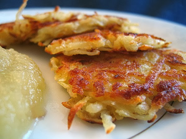 Chef Ric Orlando's famous latkes served with chipotle applesauce.
