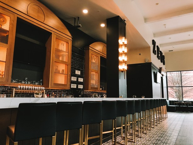 Zeus Brewing's Poughkeepsie taproom in the newly opened Queen City Lofts building is more glam than many of its industrial-chic counterparts. - COURTESY OF ZEUS BREWING